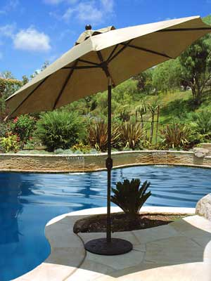 a 9u0027 autotilt aluminum frame umbrella shades most patio sets and is the only umbrella we offer online